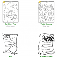 Crayola Plants and Animals Coloring Pages