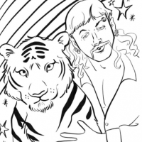 Tiger King Coloring Pages. Free printable activity sheets with Joe Exotic!