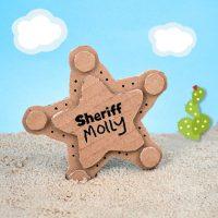 DIY Cardboard Sheriff Badge