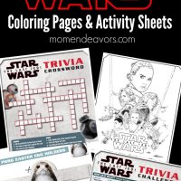 Star Wars: The Last Jedi Trivia Activity Sheets & Coloring Pages
