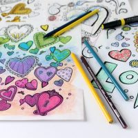 "With All Thy Heart Coloring Pages – Samples from ""Let's Color Together"""