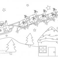 FREE Christmas Coloring Printout