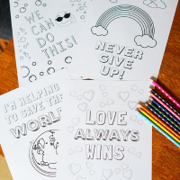 11 Positivity Coloring Pages for Kids