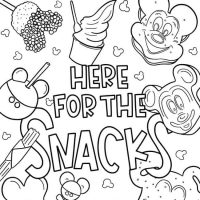Disney Coloring Pages | We're Here For the Snacks!