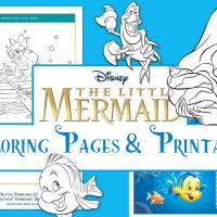 The Little Mermaid Coloring sheets and Blu Ray Bonus Features!