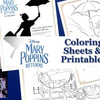 Mary Poppins Returns printable coloring pages and activity sheets.