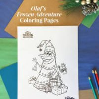 Olaf's Frozen Adventure Coloring Pages