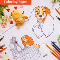 Fall in Love With These Lady and the Tramp Coloring Pages