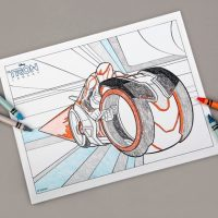 Tron Coloring Page