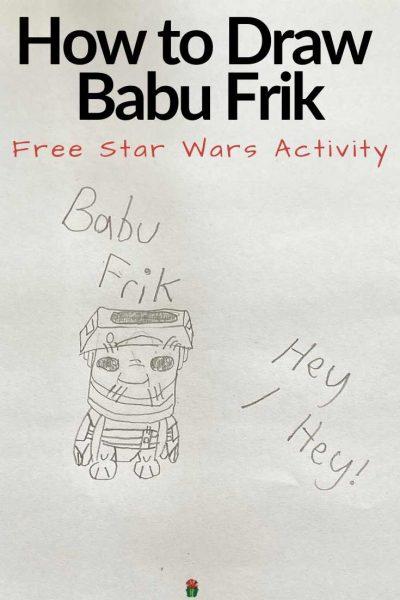 How to Draw Babu Frik   Star Wars The Rise Of Skywaker