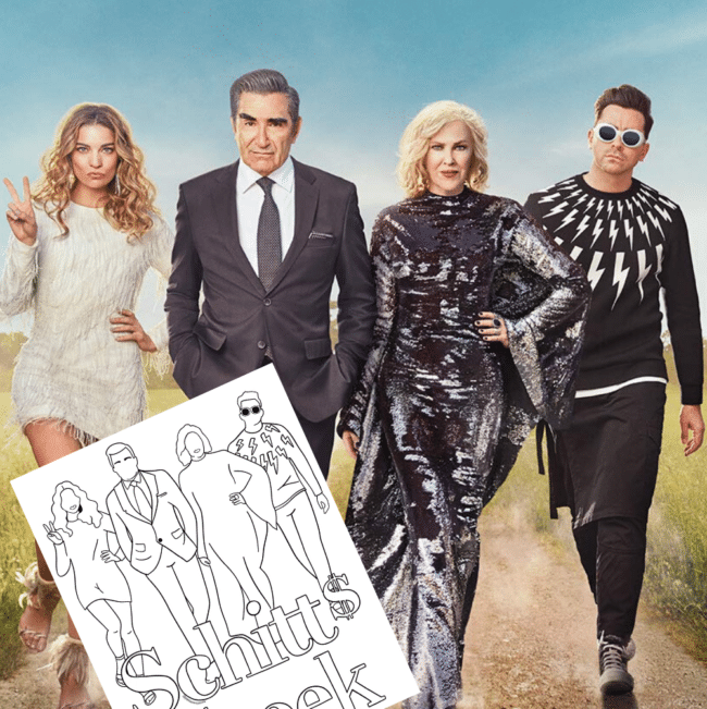 Free Schitt's Creek Coloring Pages