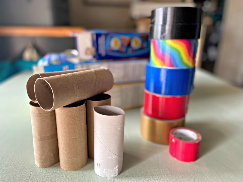 cardboard materials and duct tape