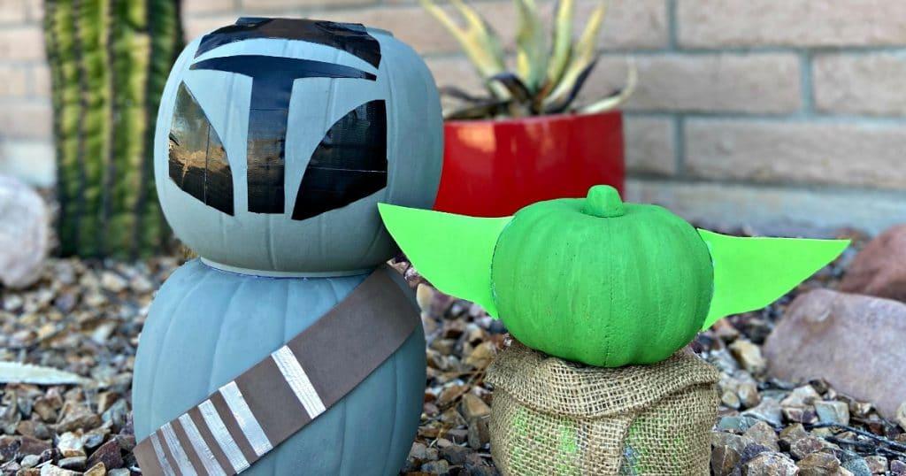 Star Wars painted Pumpkins for Halloween