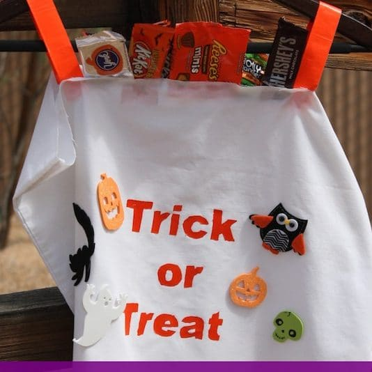 Trick or Treat Bag Costume - Easy Last minute costume idea