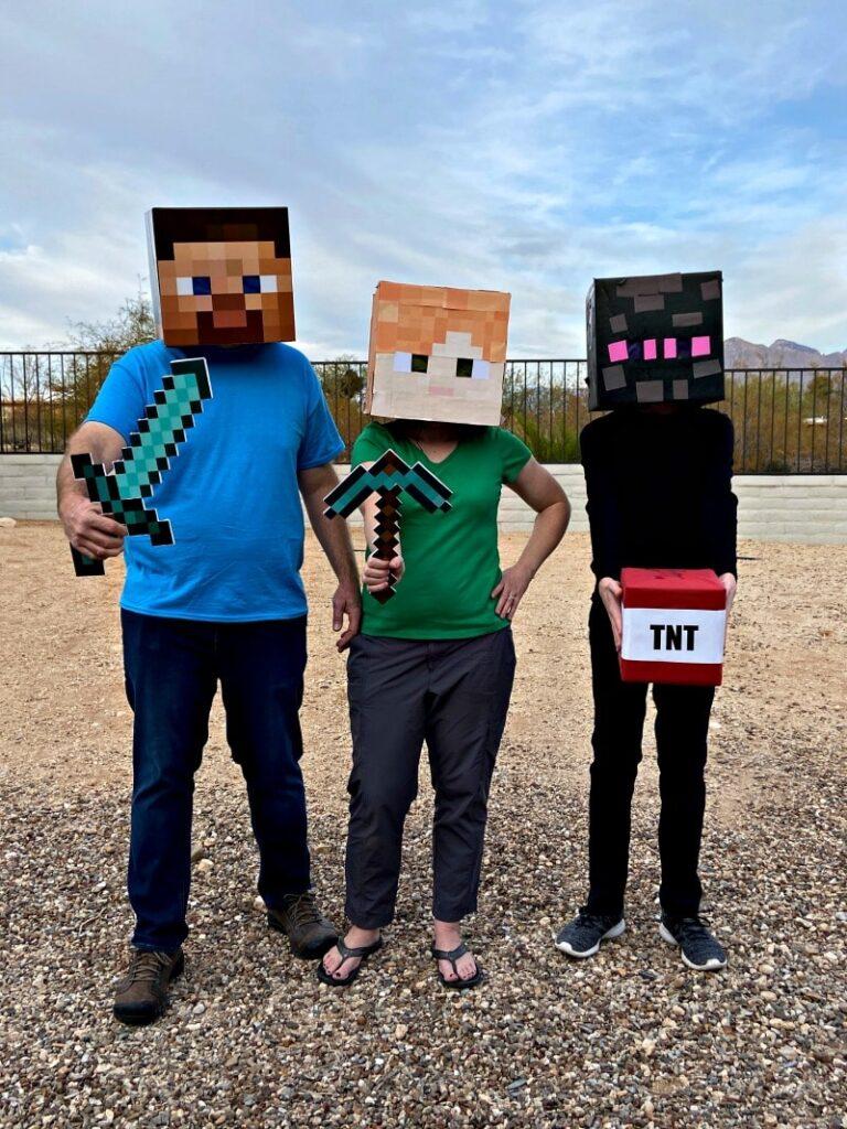Minecraft Family costumes