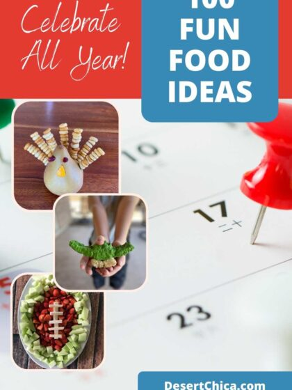 fun food ideas to make with a calendar for national days