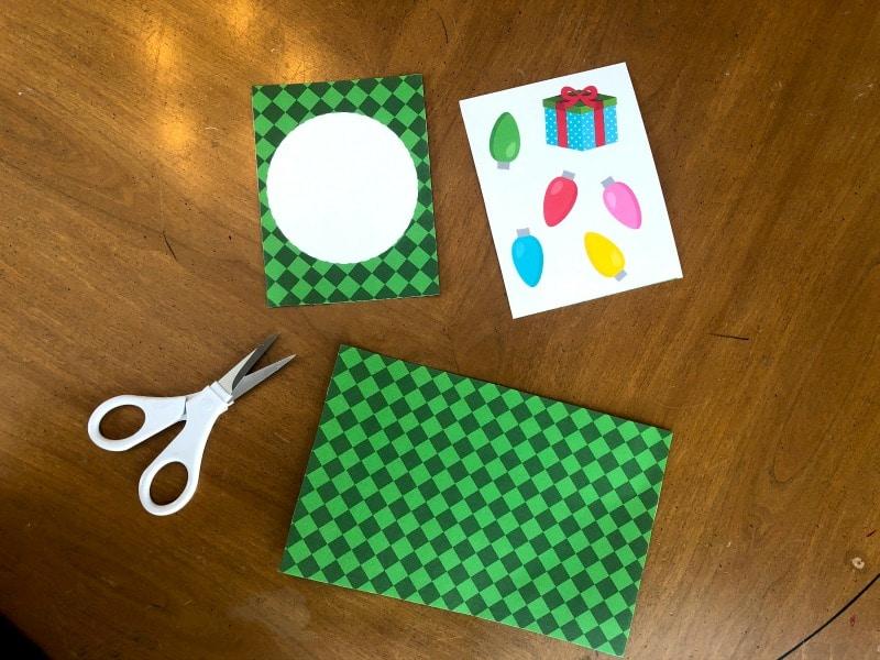 printed file to make Christmas Cactus Card