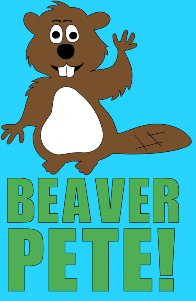 Beaver clip art and text saying 'Beaver Pete!'