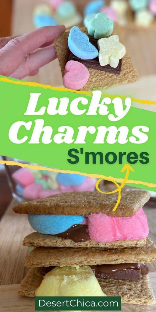 Smores using lucky charms marshmallows