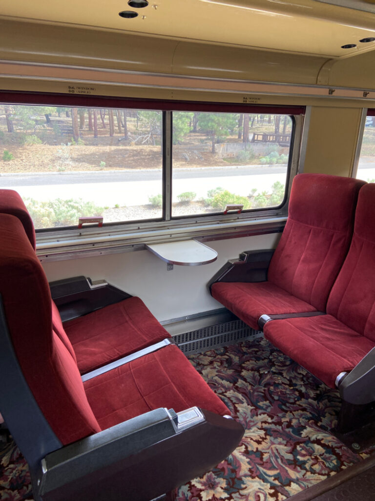 First Class Seats on Grand Canyon Railway