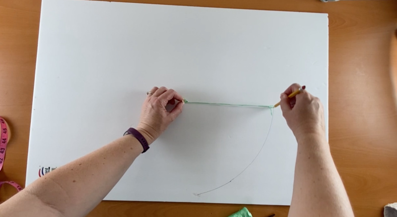 string used to draw circle on poster board